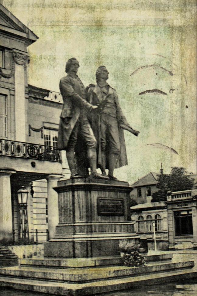 Goethe und Schiller in Weimar
